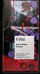 Fine dark chocolate filled with a cream of cassis.